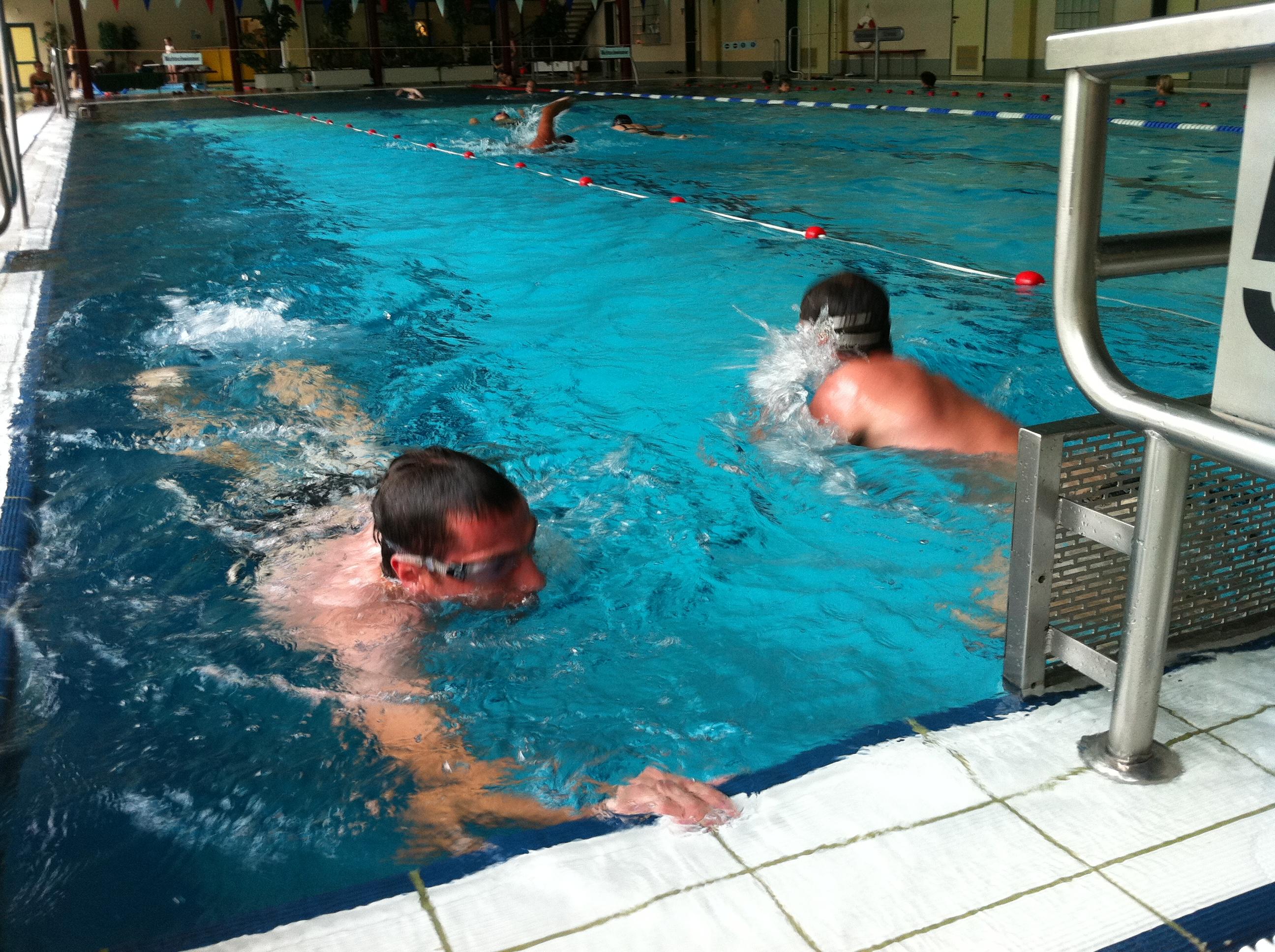 Matthi und Björn auf der 1000m - Strecke